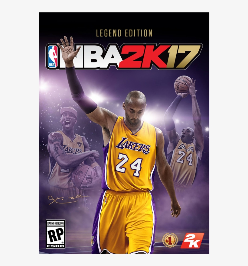 Kobe Bryant's Nba 2k17 Legend Edition Cover - Nba 2k17 Legend Edition Cover, transparent png #375013