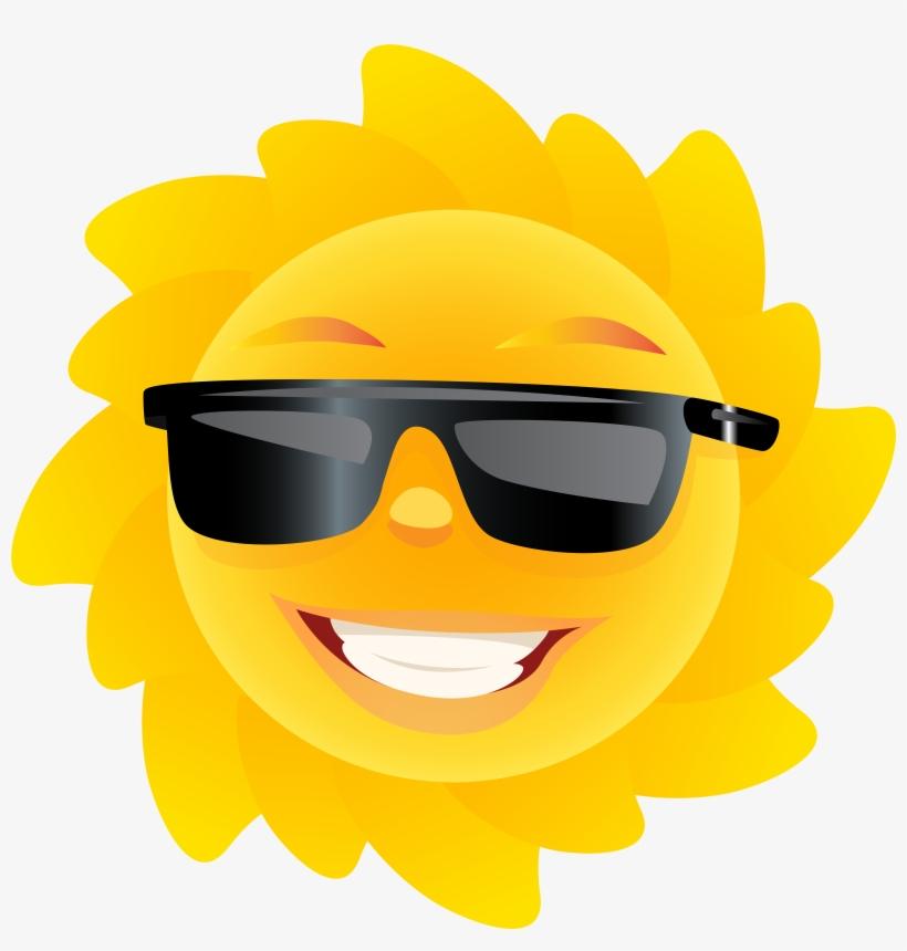 Cute Sun Transparent Clip Art Image Summer Clip Pinterest - Clip Art Sun With Sunglasses Transparent, transparent png #376231