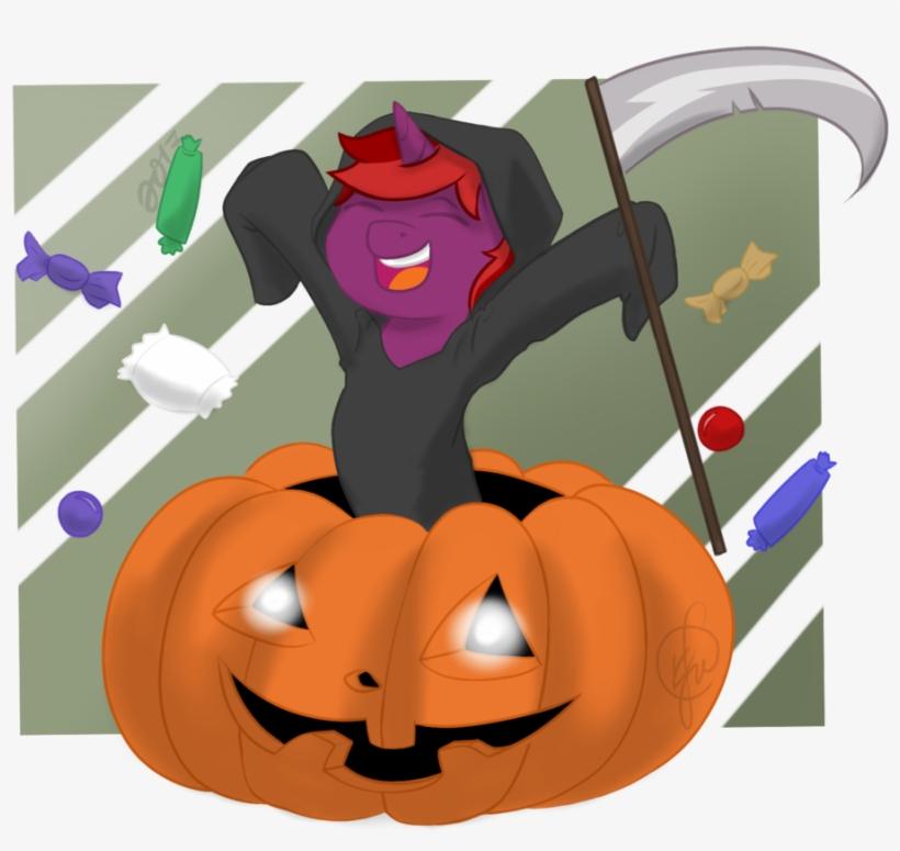 Cadetredshirt, Commission, Cute, Grim Reaper, Halloween, - Halloween, transparent png #376886