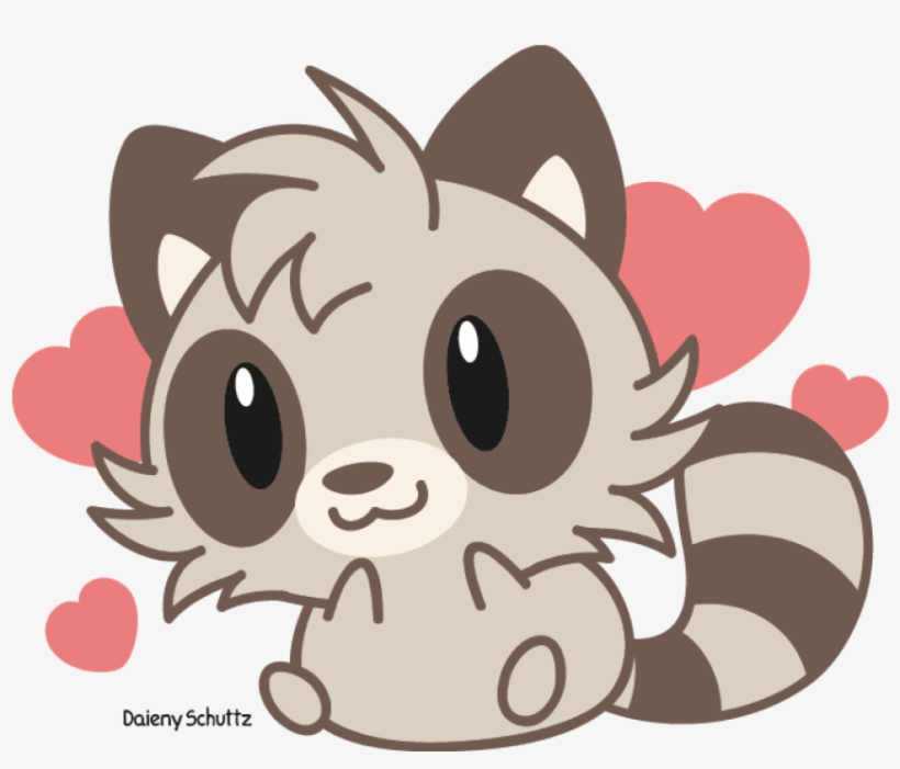 Drawing Raccoon Easy Cute Raccoon Anime Free Transparent Png