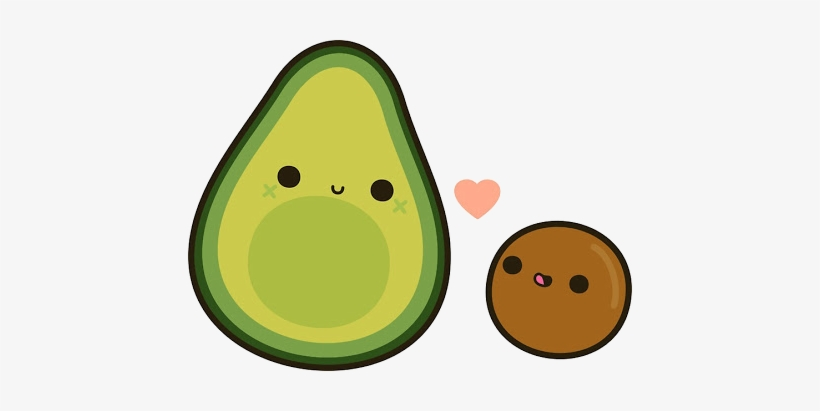 Picture Download Scfruits Fruit Love Saranghae Food Avocado Clipart Cute Free Transparent Png Download Pngkey