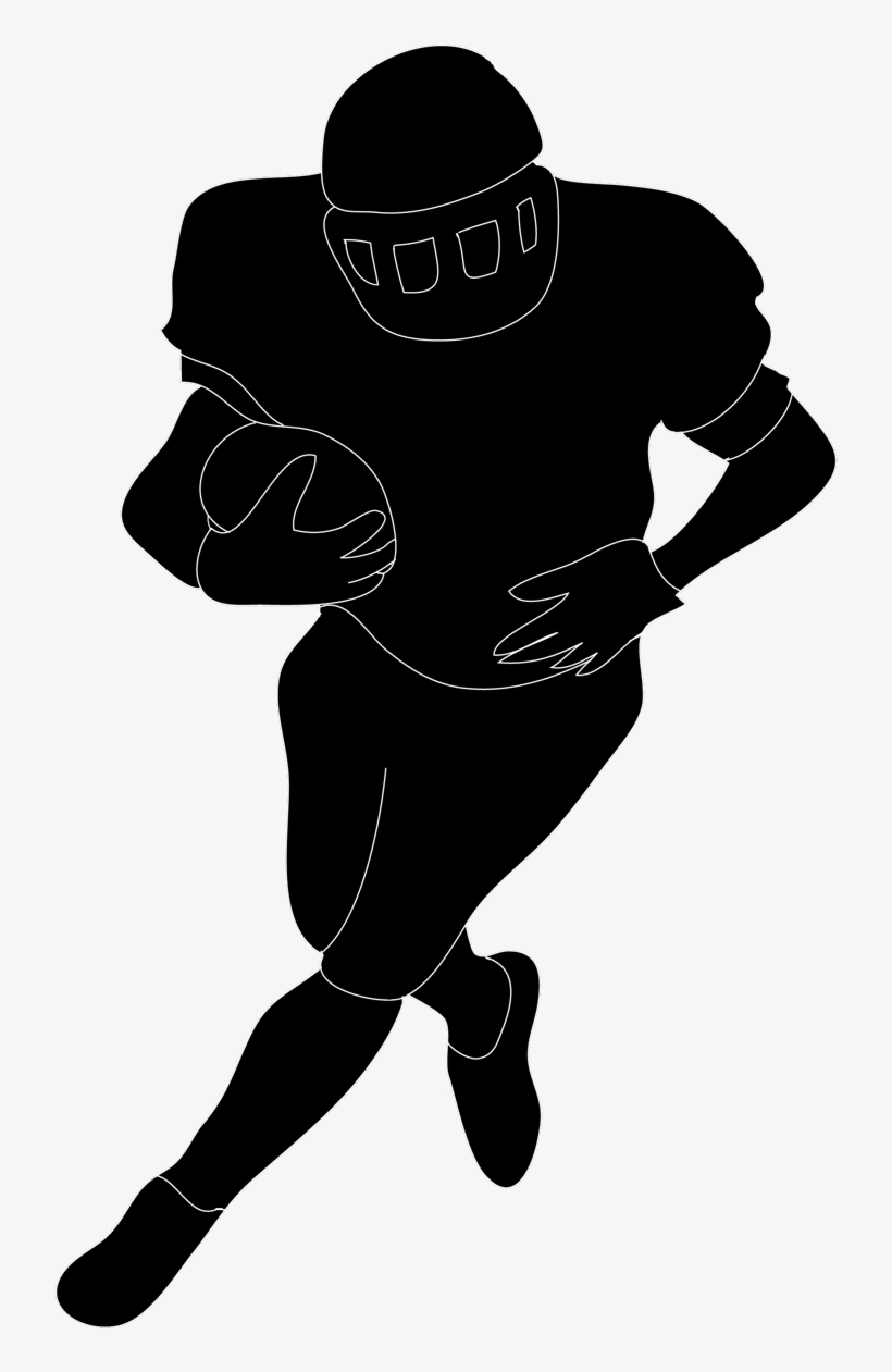 Football Silhouette Free Download Clip Art On In Player - Football Player Clipart No Background, transparent png #377517
