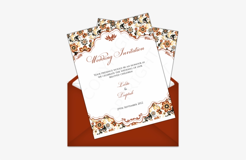 Indian Letter Style - Wedding Invitation Letter Style, transparent png #378457