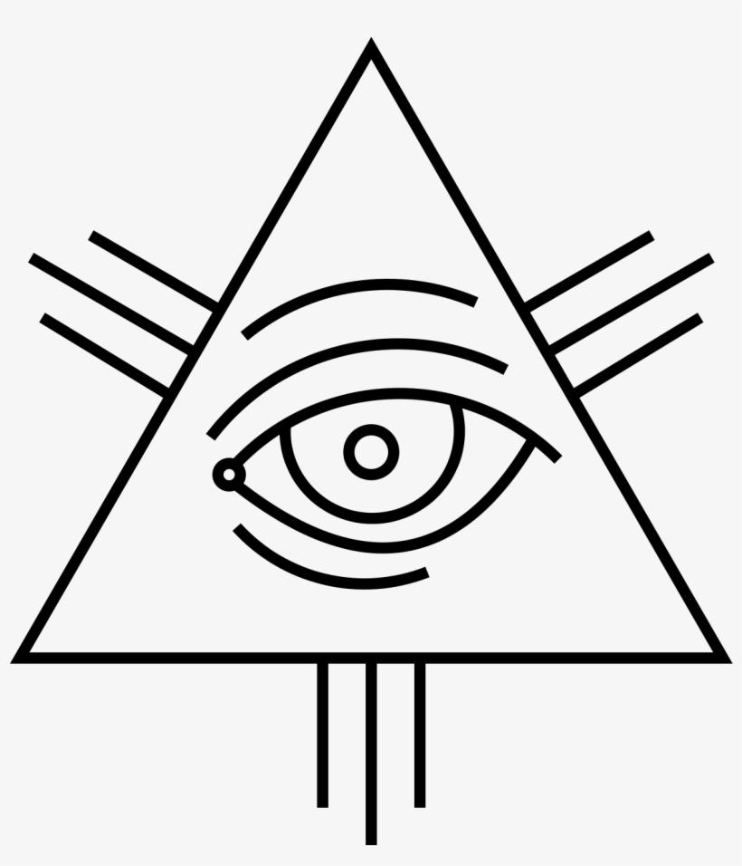 Triangolo Illuminati Png - Eye Of Providence, transparent png #378626