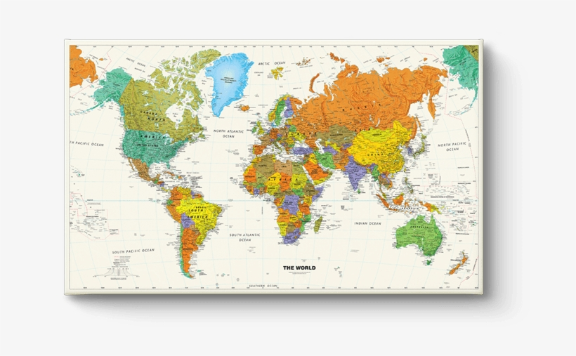 World Map School - High Quality World Map In Hd, transparent png #378679
