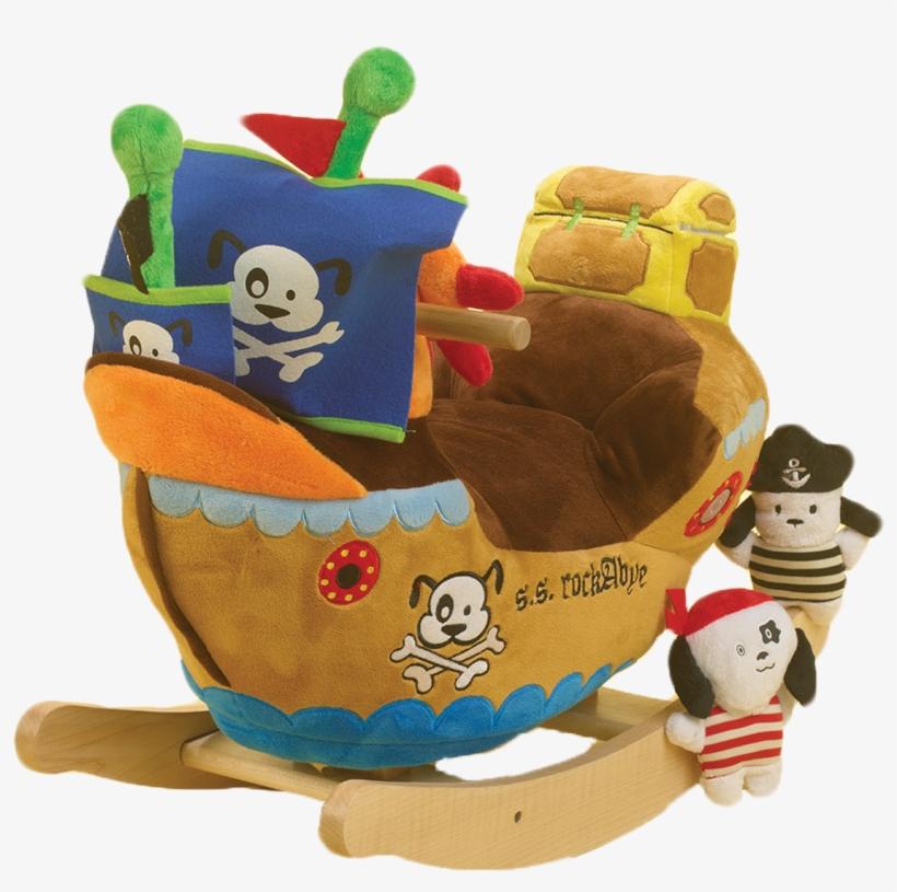 Ahoy Doggie Pirate Ship Rocker - Rockabye 85034 Ahoy Doggie Pirate Ship Rocker, transparent png #379289
