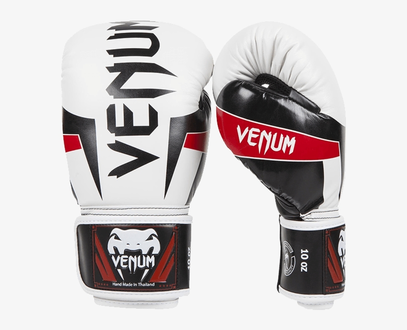 Venum Elite Boxing Gloves - White Venum Boxing Gloves, transparent png #379779