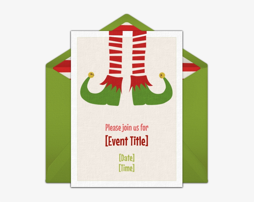A Great Free Christmas Party Invitation Featuring A - Free Christmas Party Save The Date, transparent png #3707438