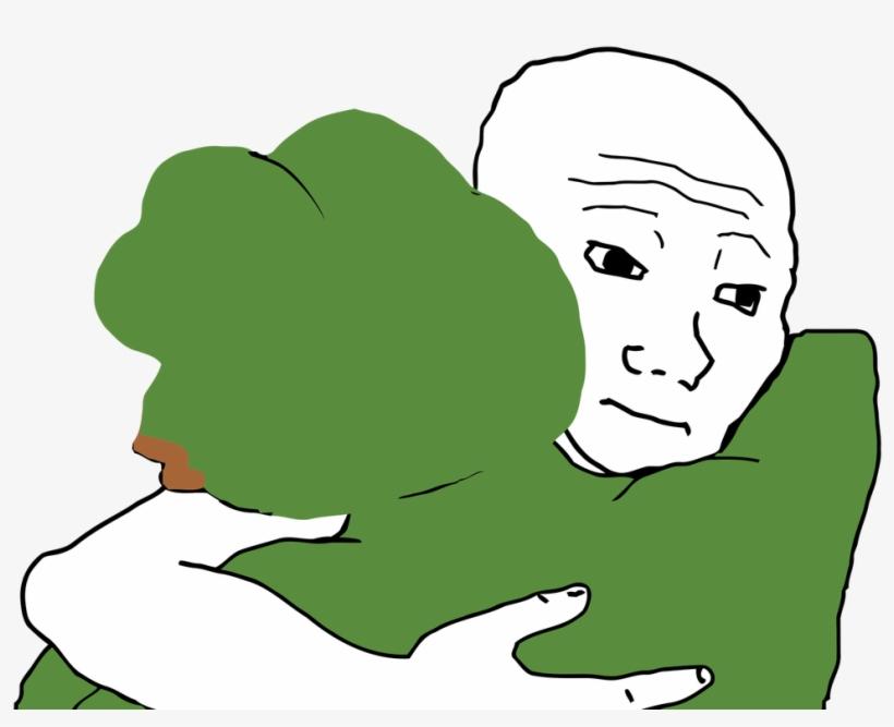 Meme Stick Together Like Glue, Like Wojak And Pepe - Pepe Back Of Head, transparent png #3710541
