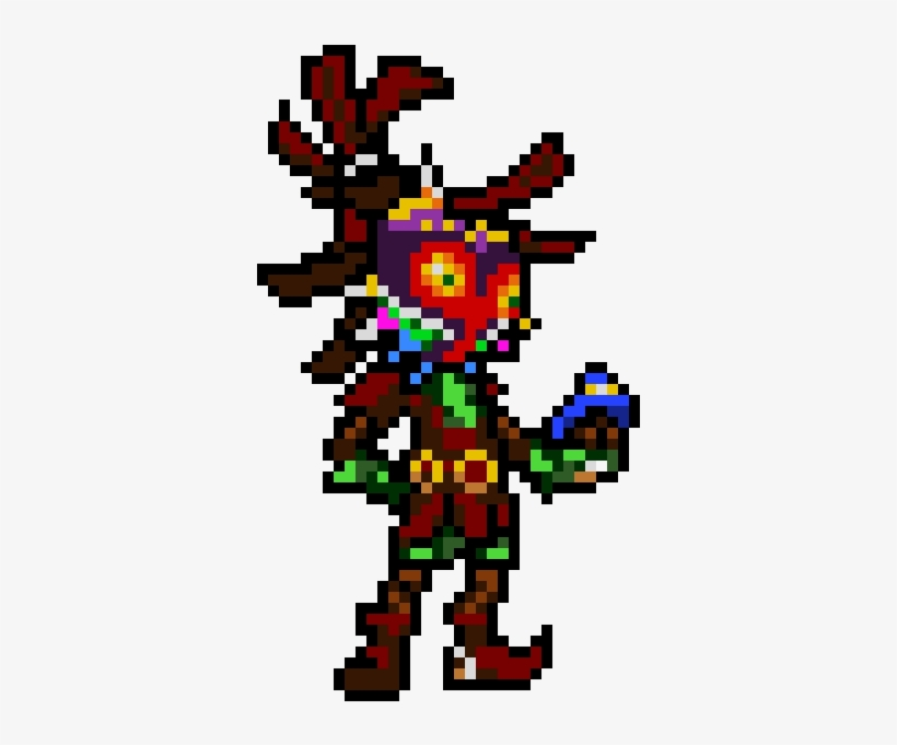 Skull Kid - Skull Kid Pixel Art, transparent png #3711329