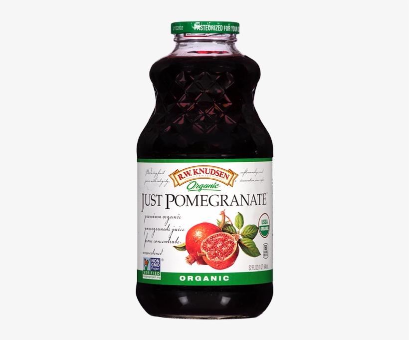Organic Just Pomegranate® Juice - R.w. Knudsen Family, Organic Juice, Pomegranate - 32, transparent png #3717753