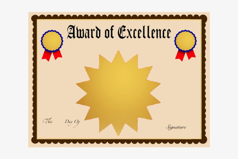 Award Of Excellence Certificate Template Multi Point Black Star Transpa Png 3717887