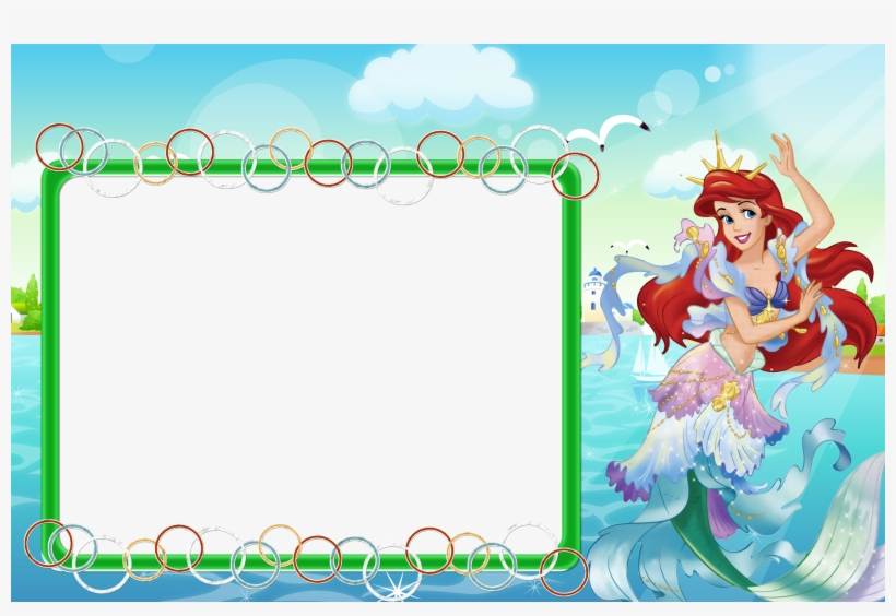 Free Disney Princess Frame Png - Disney Princess Ariel Frames Png, transparent png #3718637