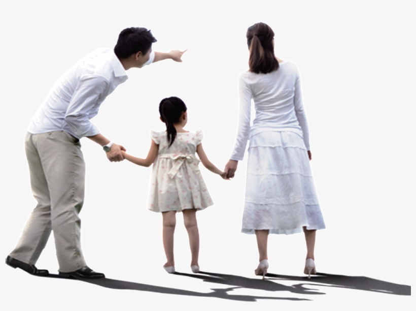 Happy Family Of Three - Holding Hands, transparent png #3724534