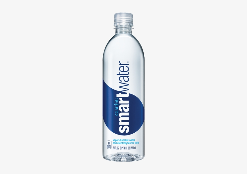 Glaceau Smart Water 591ml - Smart Water 20 Oz, transparent png #3729570