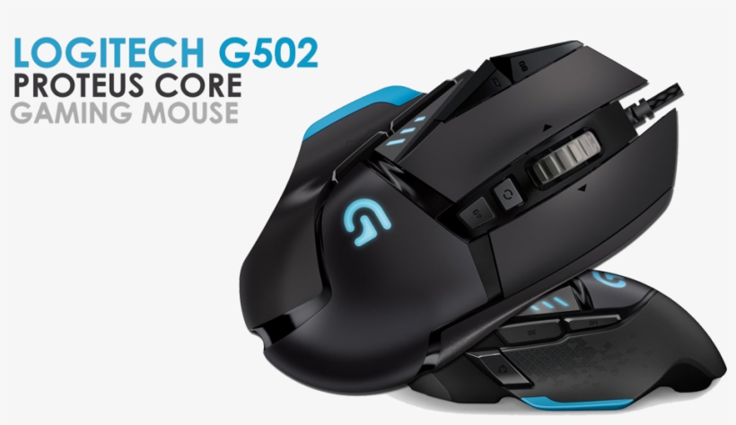 G502lg - Logitech Gaming Mouse G502 Proteus Spectrum, transparent png #3732929