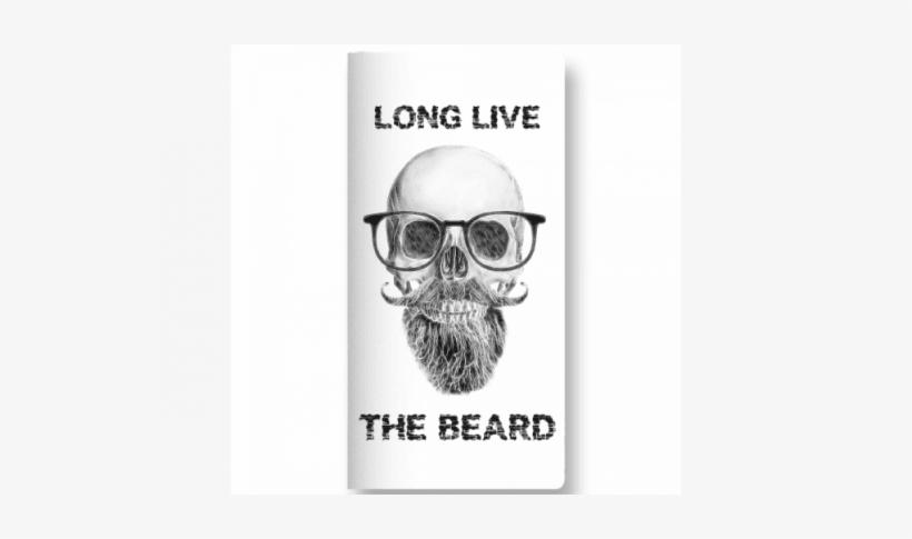 Long Live Beard - De Caveira Com Bigode, transparent png #3733351