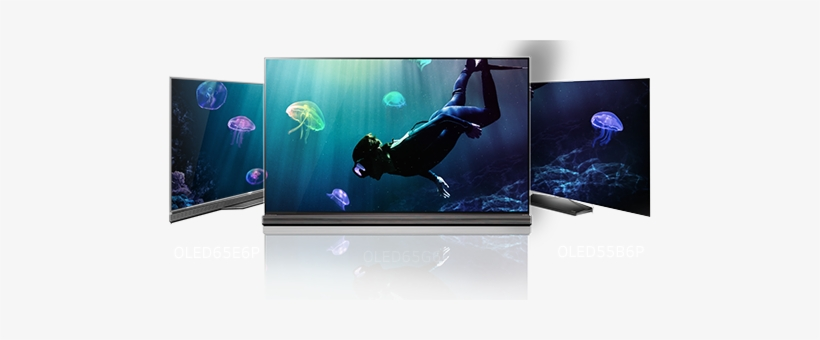 """Slim, Stylish Lg Oled Tvs Are Available With Curved - Lg 55"""" Smart Oled 4k Hdr Ultra Hd Flat Tv (2016 Model), transparent png #3734368"""
