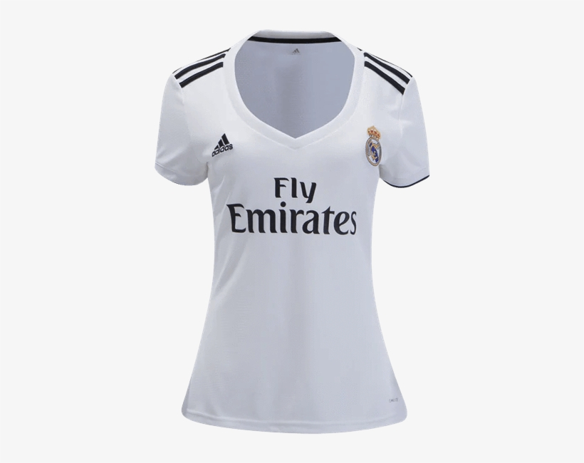 Women Real Madrid Home 2018-2019 Jersey Football Soccer - Real Madrid Jersey 18 19 Women, transparent png #3737451