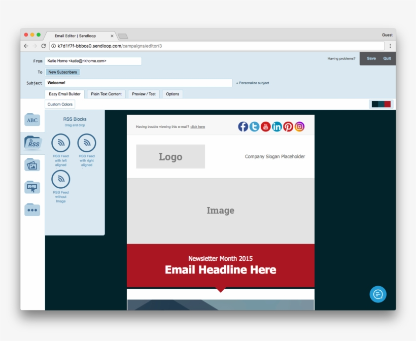 When Using One Of Sendloop's Ready To Use Email Templates, - Block Email By Content, transparent png #3739993
