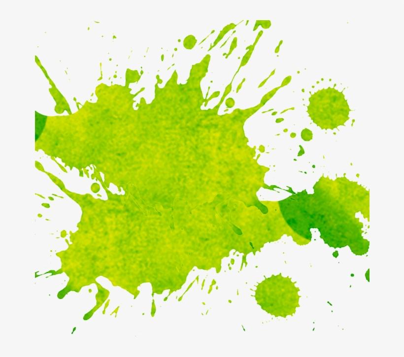 Splash Watercolor Green Png, transparent png #3740746