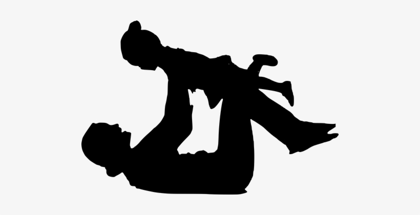 Silhouette, Child, Playing, Mother 👉 If You Find This - Silhueta Mãe E Filha Png, transparent png #3742248