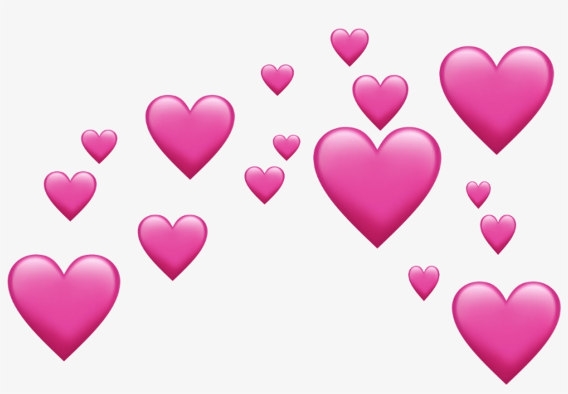 Heart Emoji Source - Pink Emoji Hearts, transparent png #3743686