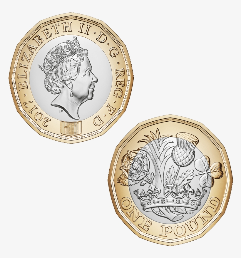 New One Pound Coin No Background Image - New 1 Coin 2016, transparent png #3744990