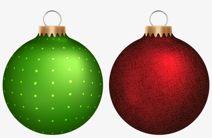 Green Christmas Ornaments Vector Transparent Download - Green Christmas Balls Png, transparent png #3746295