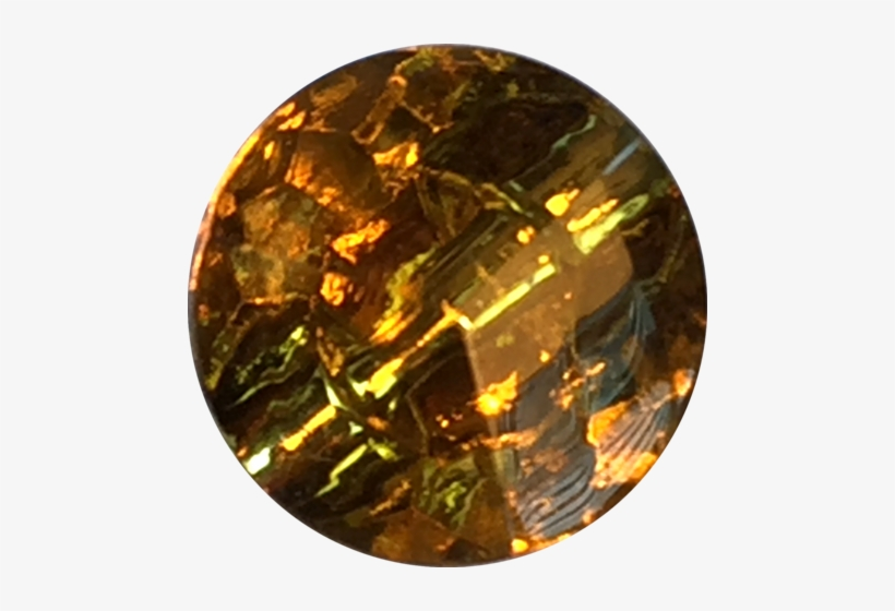 Gold Sparkling Yellow/topaz/amber Glass Button - Gold, transparent png #3747561