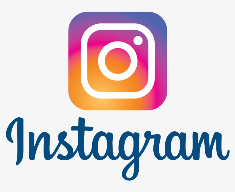 Instagram New Logo Multi Color Vector Logo Blue Text - Instagram Logo Vector 2018, transparent png #3748836