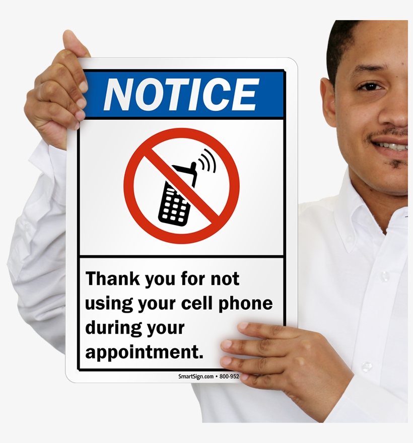 Ansi Notice Sign - Please Put Your Phone On Silent, transparent png #3749068