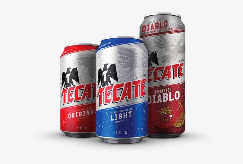 Beers - Tecate Beer, Light, 24 Pack - 24 Pack, 12 Fl Oz Cans, transparent png #3750727