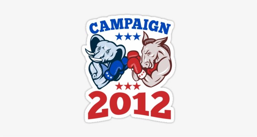 Quotdemocrat Donkey Republican Elephant Campaign - Bam Bam Chalk-10 Oz, transparent png #3754964