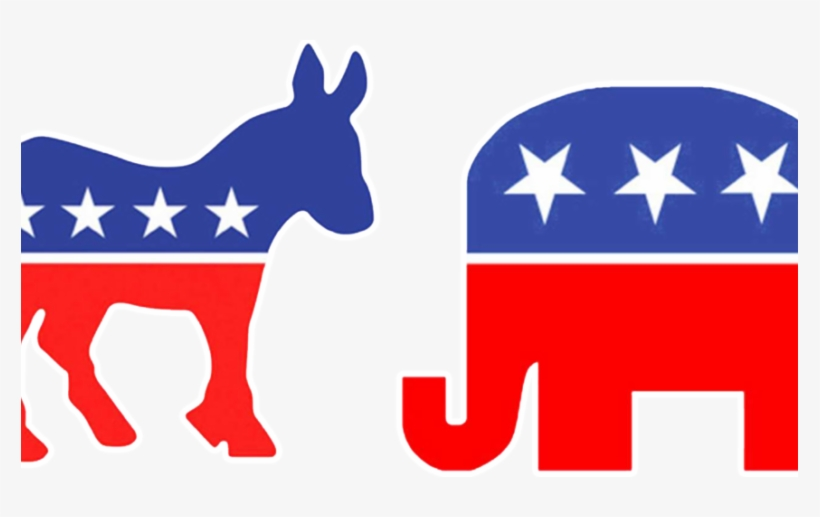 On The Issues - Burro Y Elefante Ee Uu, transparent png #3755304