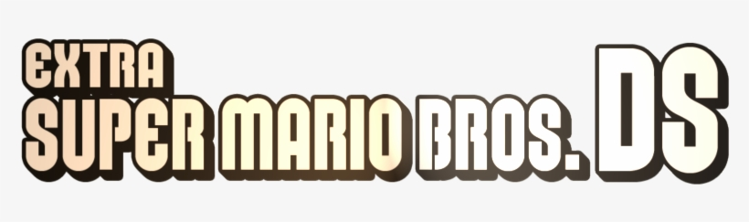 Extra Super Mario Bros - New Super Mario Bros Logo, transparent png #3755561
