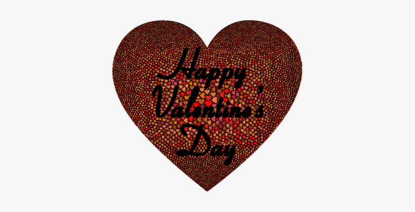 Valentine's Day Heart Vinegar Valentines Dia Dos Namorados - Happy Valentines Day Red And Brown, transparent png #3757639
