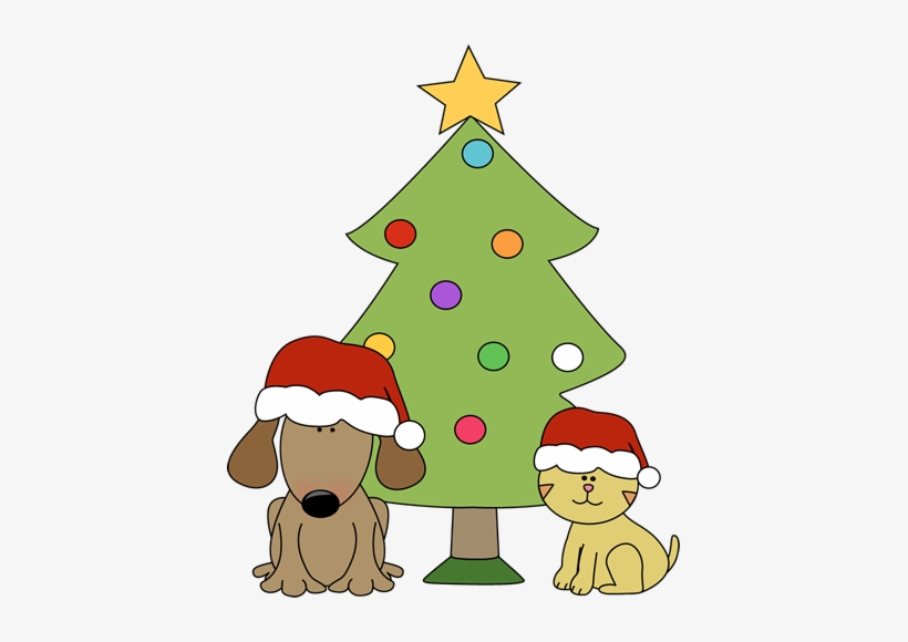 Holiday Pet Safety Tips » Christmas Dog Cat And Tree - Christmas Tree Cat And Dog, transparent png #3758239