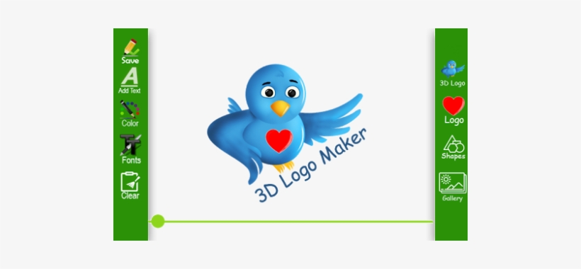 3d Logo Maker 2018 - Twitter Bird, transparent png #3761083