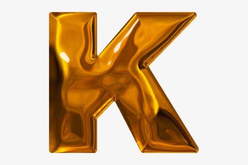 K Letter In Gold, transparent png #3761734