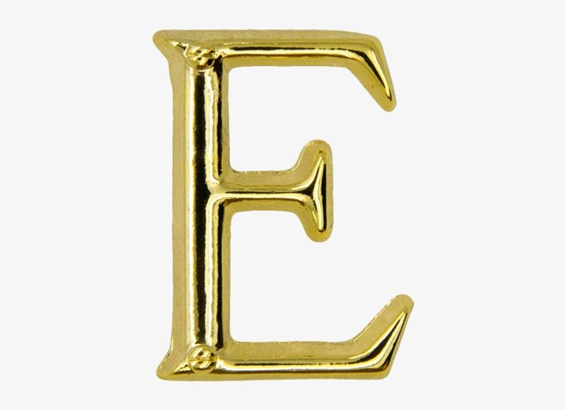 Letter E Pin, Gold - Letter E Gold Png, transparent png #3761772