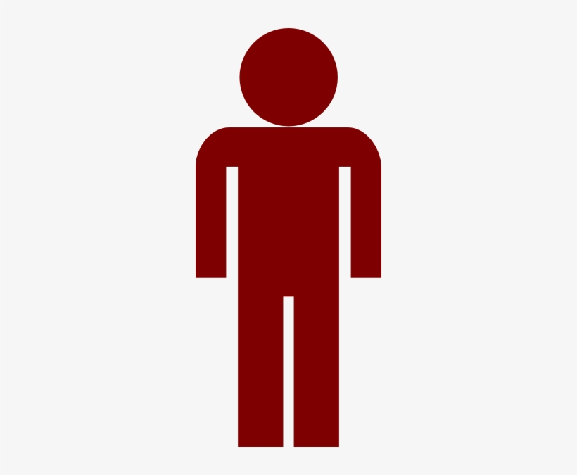 Man Symbol Png Red Stick Figure Transparent Background Free
