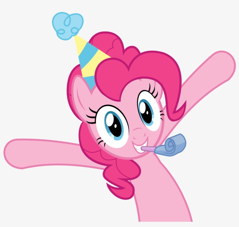Takua770, Hat, Party Hat, Pinkie Pie, Safe, Simple - My Little Pony Pinkie Pie, transparent png #3768049