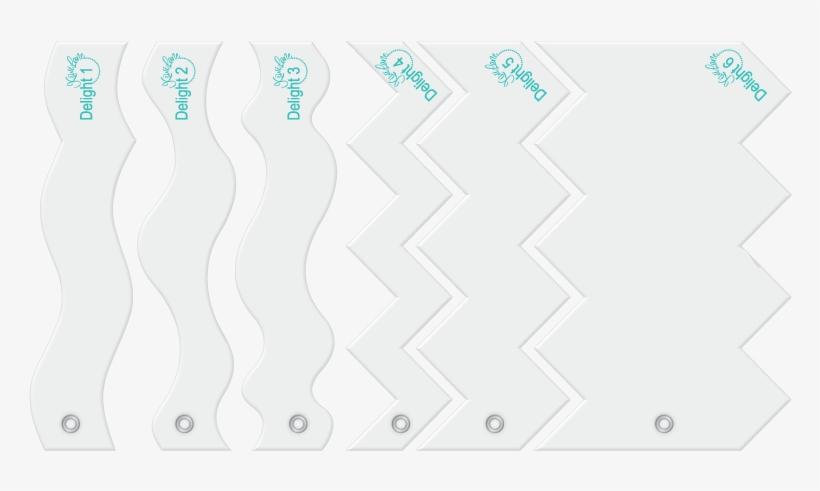 Delight Designer Template Fun Card Border Set - Design, transparent png #3769508