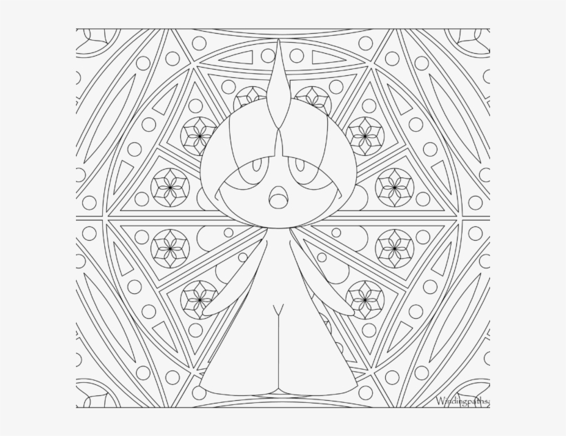 Adult Pokemon Coloring Page Ralts 280 - Adult Pokemon Color Page, transparent png #3769735