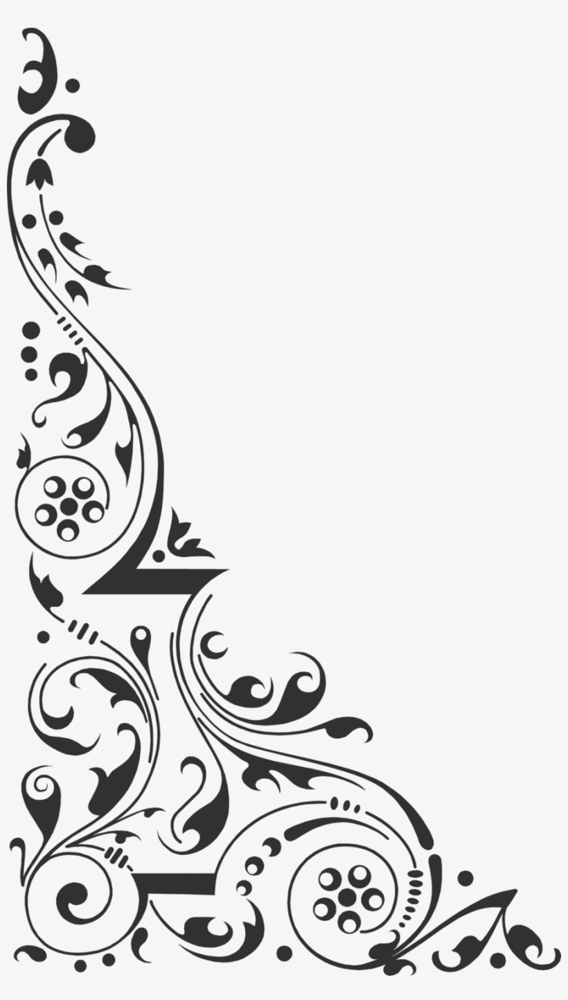 Corner Design Clipart Clip Art Black White Corner Design Hd