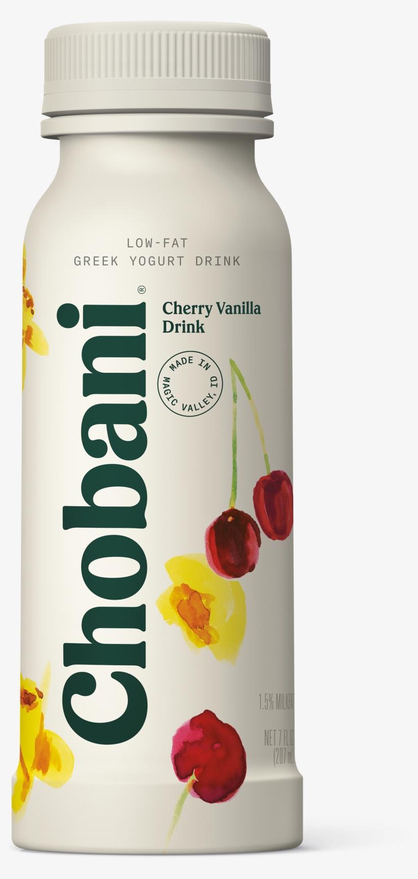 Chobani, Cherry Vanilla Low Fat Greek Yogurt Drink, - Chobani Greek Yogurt Drink Strawberry Banana, transparent png #3774028