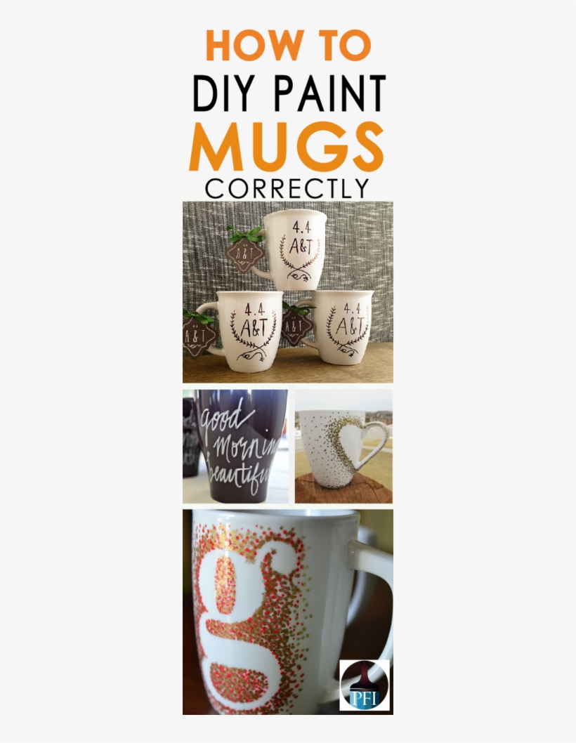 How To Diy Painted Mugs - Coffee Cup, transparent png #3775278