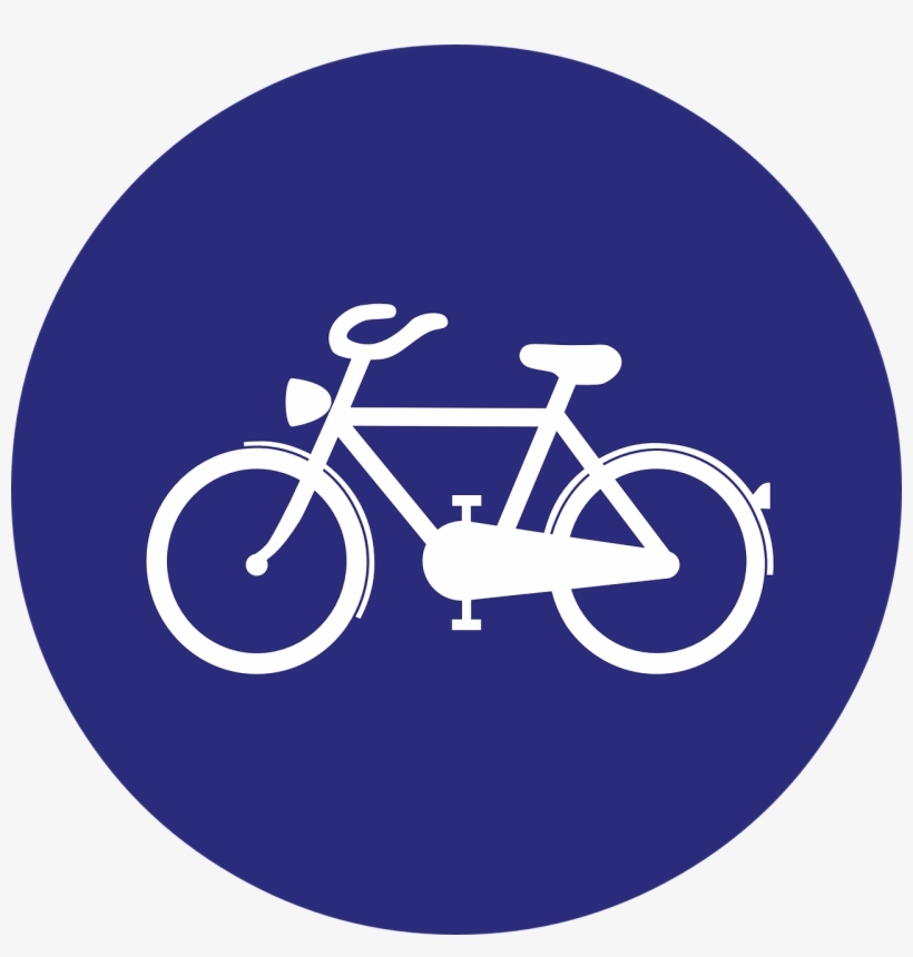 Germany, Cycle Path, Bicycle Lane, Road Sign - Road Signs Cycle Lane, transparent png #3779318
