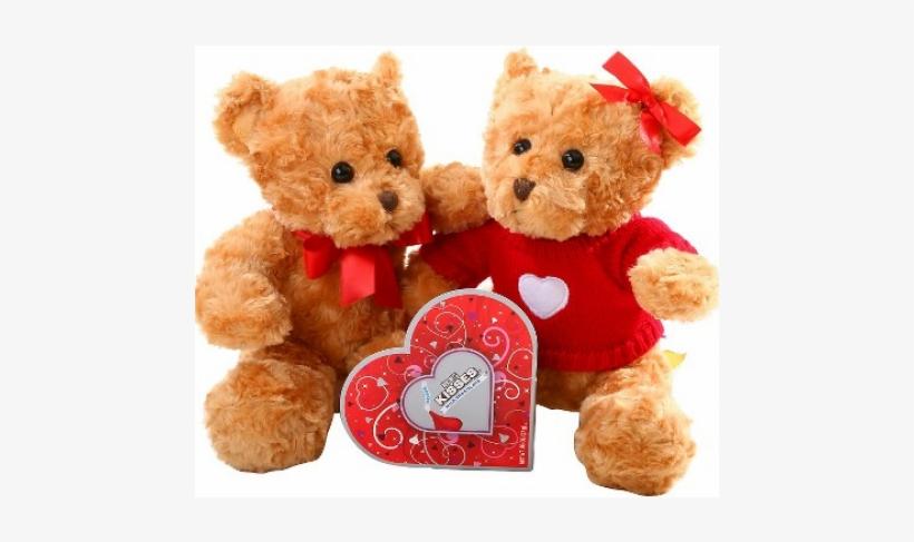 Ositos Enamorados De San Valentín - Hersheys Kisses Milk Chocolate - 0.96 Oz, transparent png #3781387